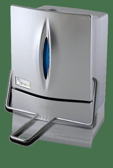 Dosificador de jabón para pulsación con codo - Silver - Perspectiva
